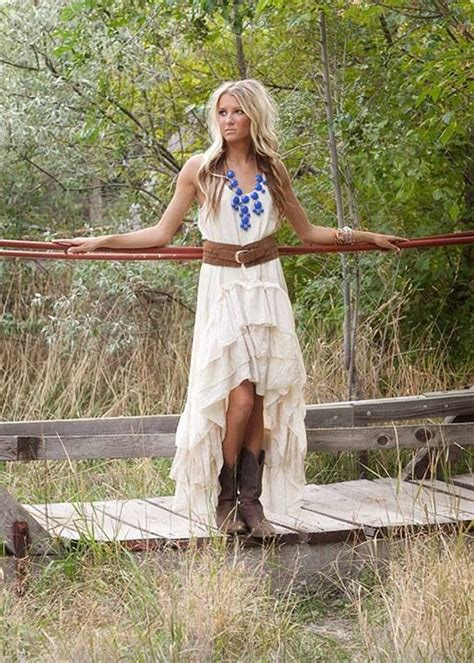country dresses to wear with boots simple country wedding dress with cowboy bootscherry