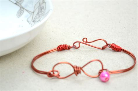 how to make a bracelet with and wire infinity wire bracelet 183 how to make a