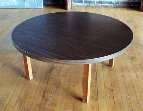 Mcm Style Round Laminate Coffee Table Salvage One Laminate Coffee Table