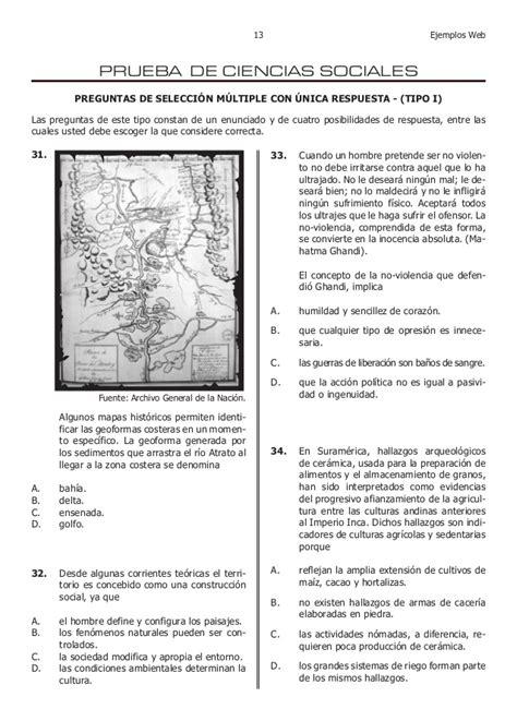 preguntas y respuestas tipo icfes de sociales examen de estado icfes colombia ejemplos de preguntas y