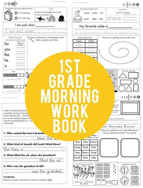 daily morning work a year s worth of reasoning and multidisciplinary problems books 1st grade common aligned morning work second story