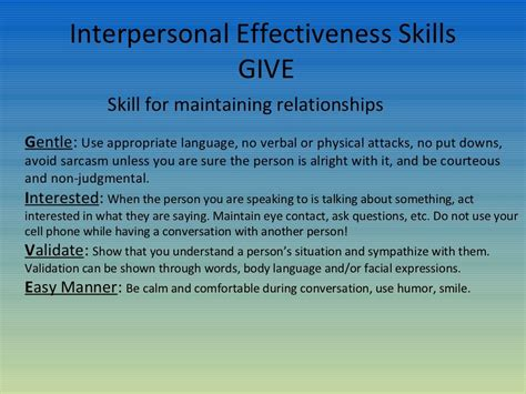 dbt skill for maintaining relationships give pinned
