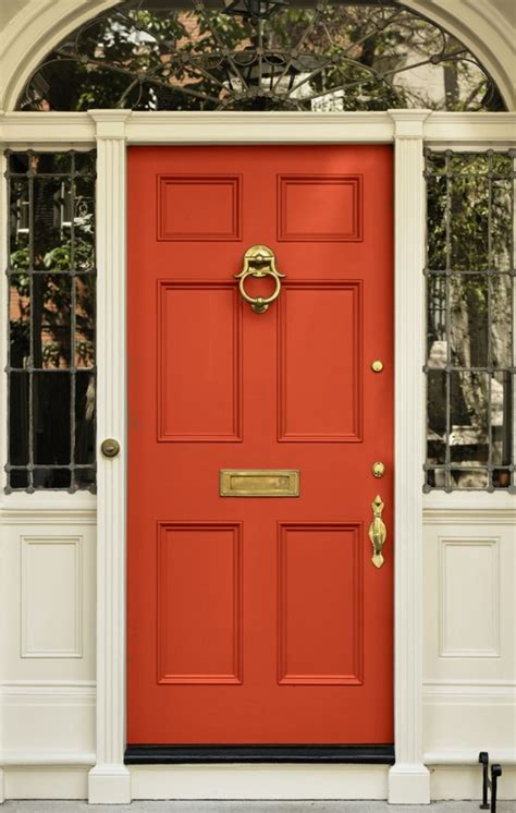 What Color To Paint A Front Door Chinoiserie Chic The Chinoiserie Front Door Coral