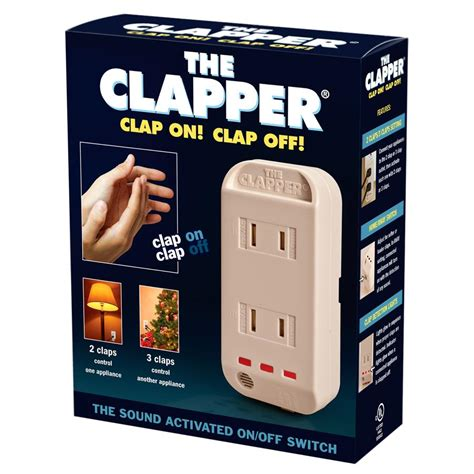 lights that turn on when you clap the clapper sound activated on switch quantity 1