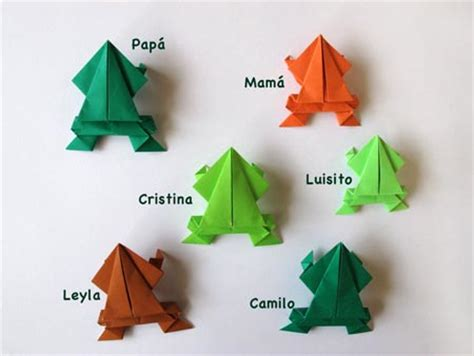 Frog Origami Jumping - how to make an origami frog origami bases