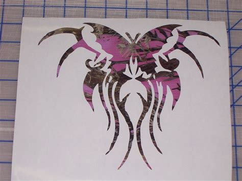 camo tribal tattoos pink camo tribal butterfly decal truck window sticker