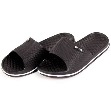 shower slippers mens slip on sport slide sandals flip flop shower shoes
