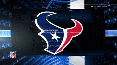 ps4 nfl themes nfl texans highlights static theme on ps3 official
