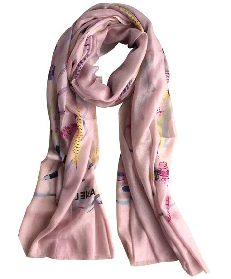 Voal Printing Scarf Premium Syari Size chanel lightweight scarf with printing ac