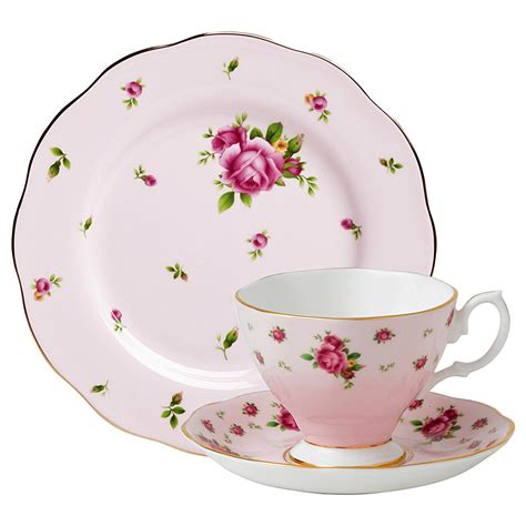 Teacup New Country royal albert new country roses pink teacup saucer plate