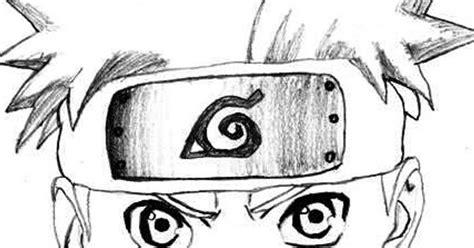 gambar ilustrasi kartun naruto hitam putih