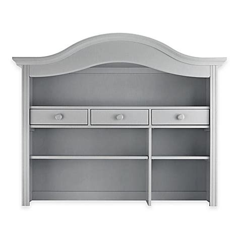 bed bath and beyond davenport buy baby appleseed 174 davenport hutch and bookcase in moon grey from bed bath beyond