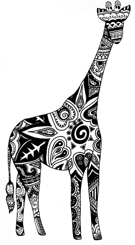 pattern giraffe drawing giraffe outline clipart best