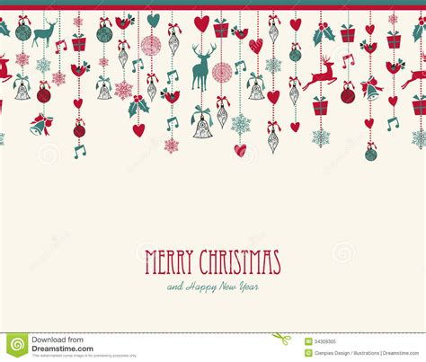 merry christmas hanging elements decoration compos royalty