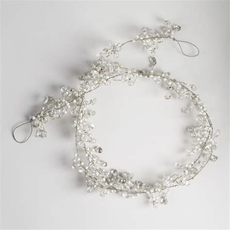 glass bead garland pearl and clear glass bead garland world market