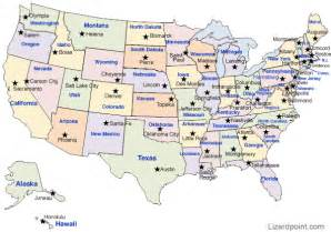 united state map of states and capitals map of the united states and capitals quiz