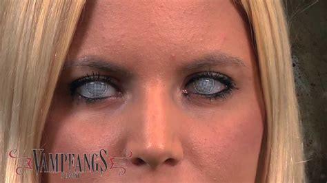 White Blind Eye Contact Lenses white mesh fx contact lenses