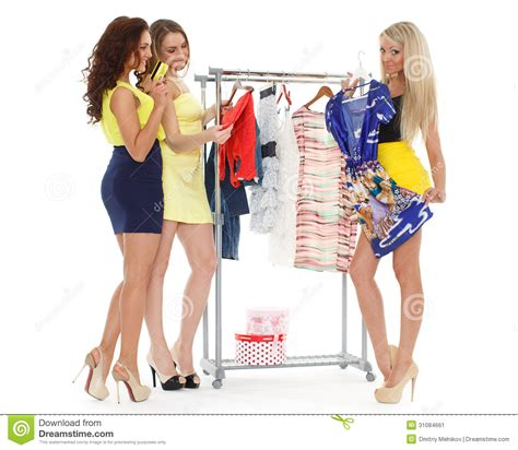 imagenes mujeres felices mujeres felices de las compras imagen de archivo imagen