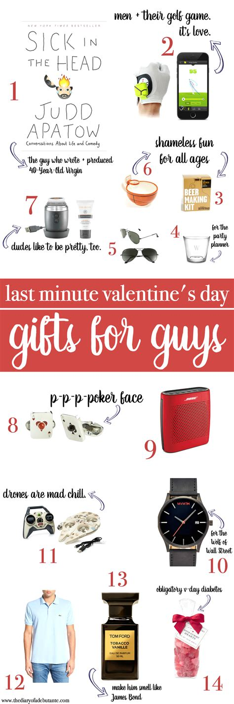 valentines gift ideas for guys last minute gift ideas for guys diary of a debutante