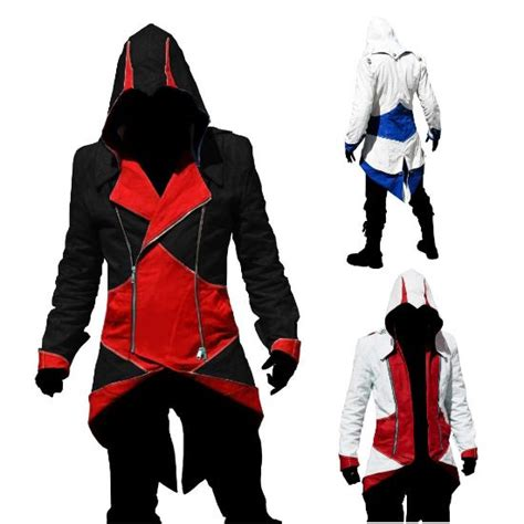 Jaket Parka Assasin Craem assassin s creed iii connor kenway coat jacket hoodie costume really cool clothes for