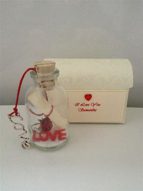 personalised romantic love message in a bottle boyfriend