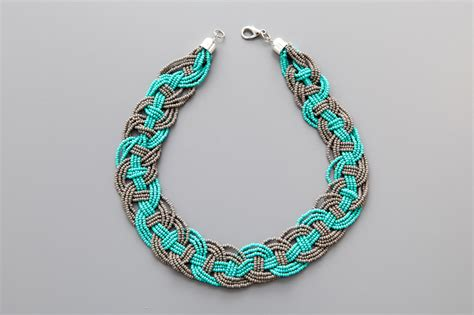 diy bead jewelry diy woven bead statement necklace diy craft projects