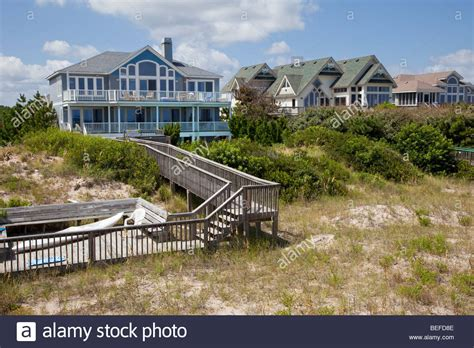 buy house in north carolina vacation beach houses at corolla north carolina s outer banks usa stock photo