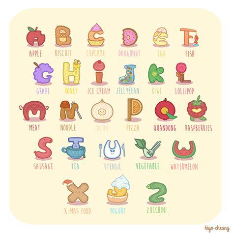 sweetie food alphabet on behance