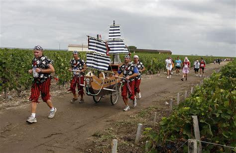Fifteen Waiter Running The Marathon 2 by Wine Enthusiasts Run The Marathon Du Medoc Zimbio