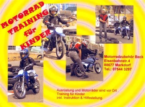 Kinder Motorrad Training by Roland Beck Markdorf Motorradzubeh 246 R