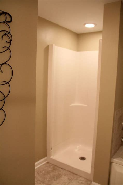 Shower Doors For Stand Up Shower Great Stand Up Shower For The Small Bathroom Use Curtain