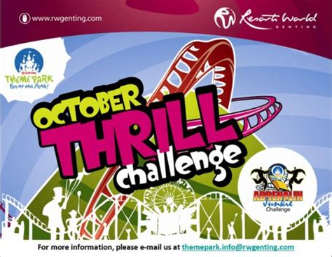 theme park advertisement october thrill challenge genting theme park