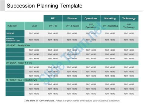 Succession Planning Template Image Collections Template Design Ideas Exles Of Succession Planning Templates