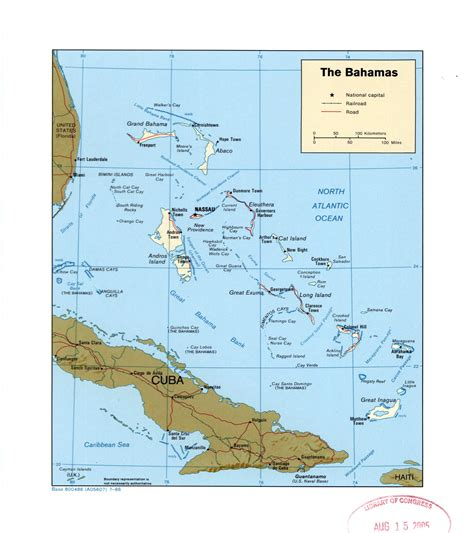 political map of bahamas large detailed political map of bahamas with roads