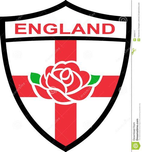 england shield english rose stock illustration image