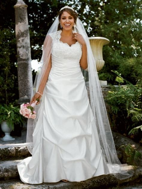 brautkleider mollige 2011 davids bridal plus size wedding dresses collection