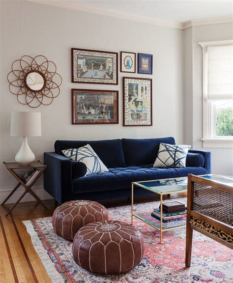 decorating around a navy blue sofa living room color glamorous blue couches living rooms high