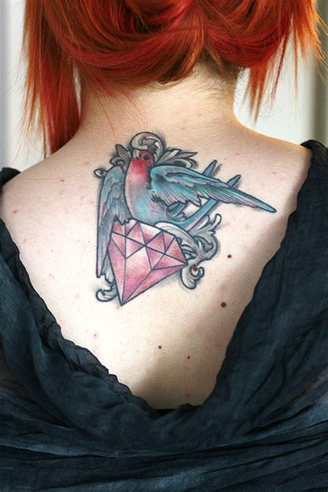 tattoo diamond on back birds tattoos and designs page 313