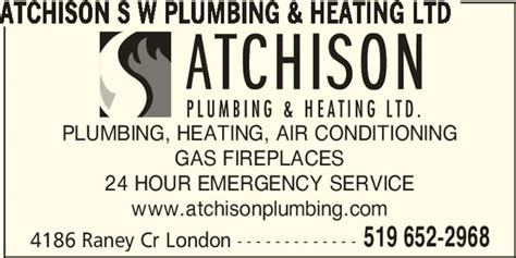 Atchison Plumbing by Atchison S W Plumbing Heating Ltd On 4186 Raney Cres Canpages