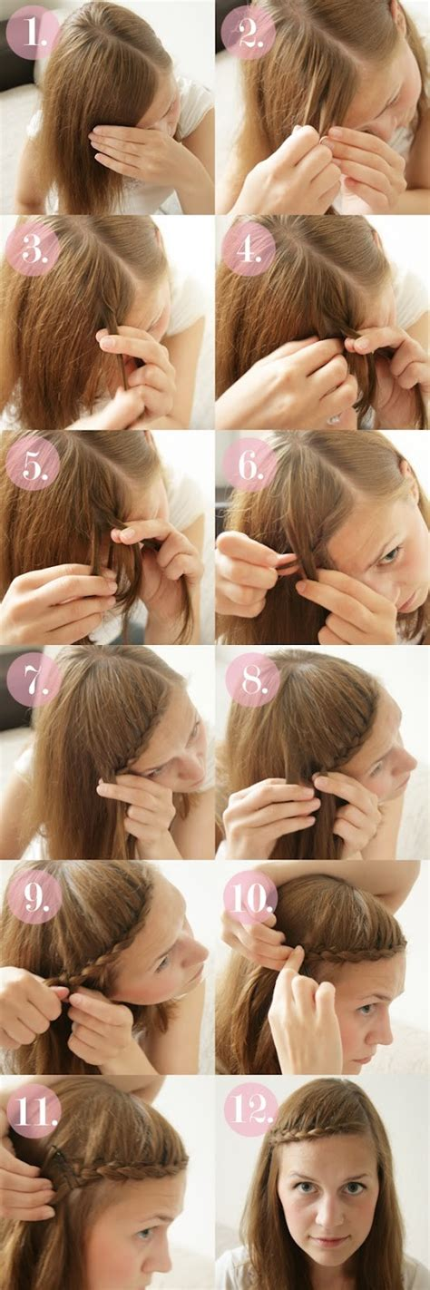 Braided Hairstyles Tutorials by 15 Braided Bangs Tutorials Easy Hairstyles Pretty