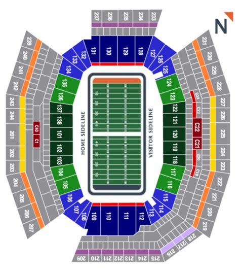 seating capacity of lincoln financial field philadelphia eagles seating chart at lincoln financial field