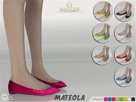 Flat Shoes Square Ribbon White Sh003 3 flats sims 4 nexus page 2