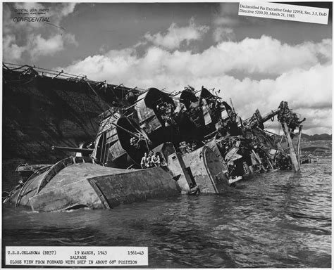 pearl harbor bodies file uss oklahoma bb37 19 march 1943 1561 43 salvage