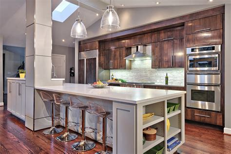 Kitchen Island That Seats 4 marvelous lumisource in kitchen contemporary with wavy