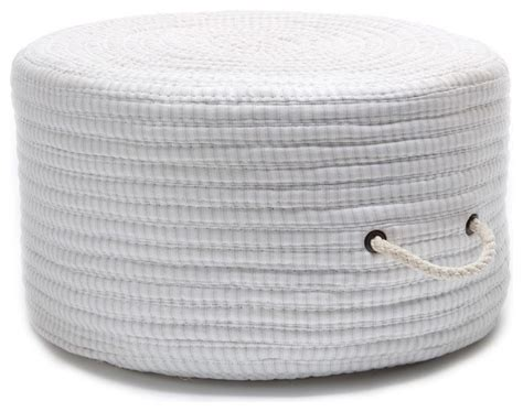 braided pouf ottoman braided ticking fabric stripe pouf round gray pouf ottoman