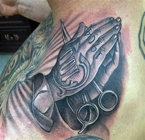 tattoo clippers designs 100 barber tattoos for masculine design ideas
