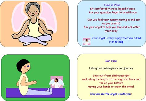 printable yoga flash cards yoga pose coloring pages