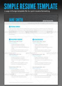 Resume Indesign Template by A Resume In Indesign