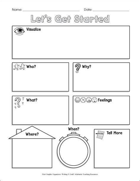 prewriting outline template pre writing graphic organizer shining rock cfa