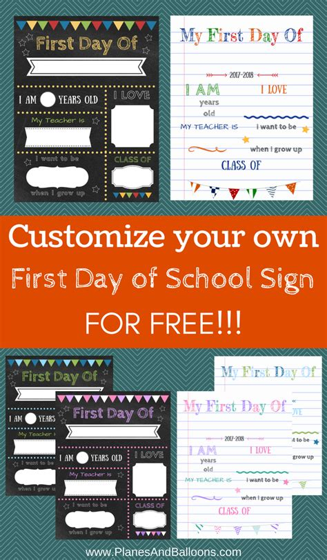 day of school sign template editable day of school signs to edit and